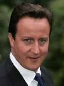 The British Prime Minister, David Cameron