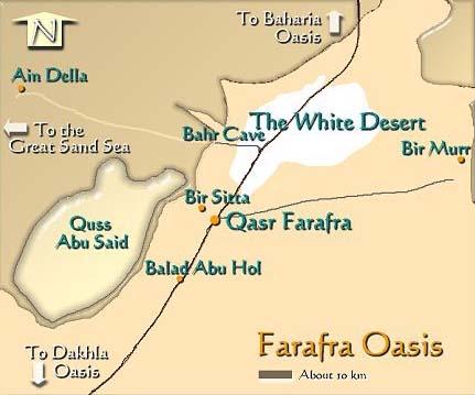 Farafra Oasis Map Of Egypt Egypt Farafra Oasis Map Farafra Oasis - Map of egypt oasis